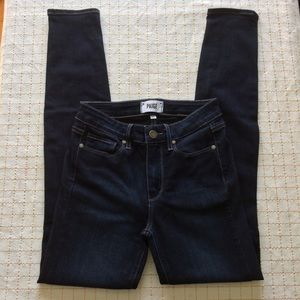 PAIGE Hoxton Ultra Skinny Dark Wash Mona Jeans, 25